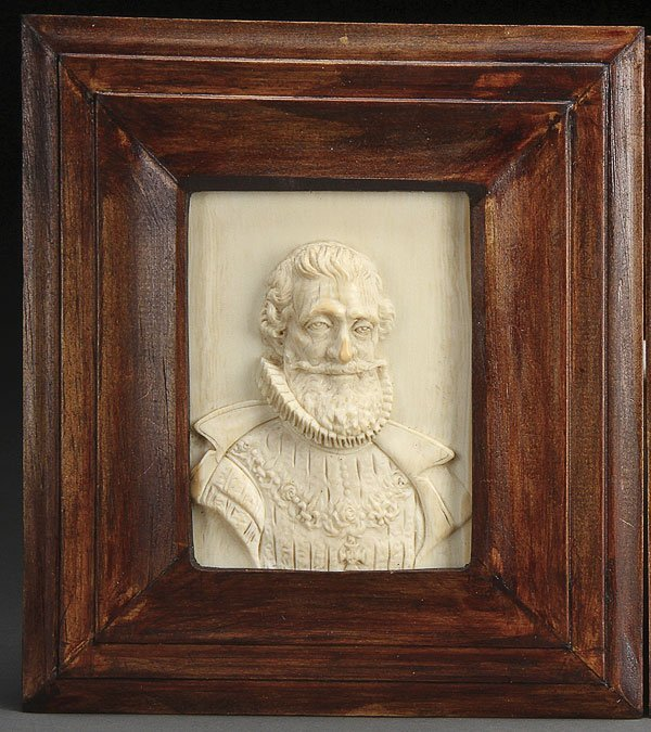606: HENRY IV MARIE MEDICI CARVED IVORY  PLAQUES