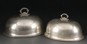 VICTORIAN SILVERED FOOD DOMES
