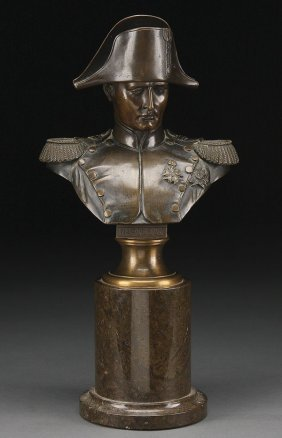 19TH C FRENCH BRONZE NAPOLEON BUST