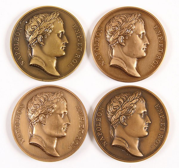 729: 4 NAPOLEON BATTLE OF MOSCOW  BRONZE MEDALS