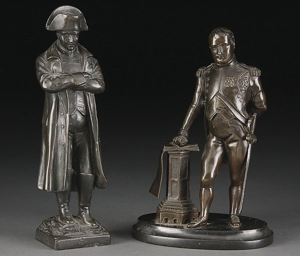 745: PAIR OF FRENCH BRONZE NAPOLEONS, 19TH C TO 20TH C