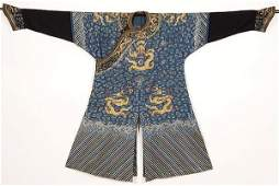 983: IMPERIAL CHINESE EMBROIDERED ROBE, 19TH C.