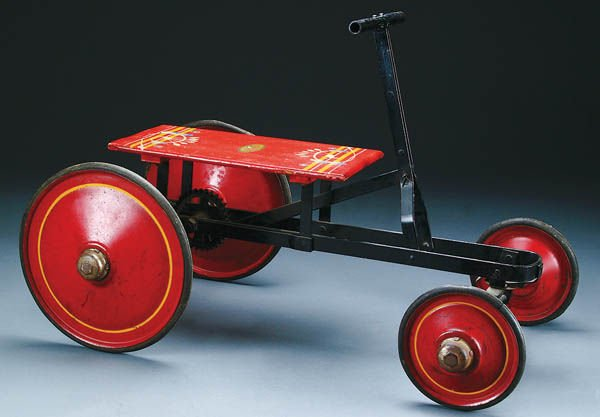 7: AN AMERICAN NATIONAL CO. TOY WOODEN SCOOTER early