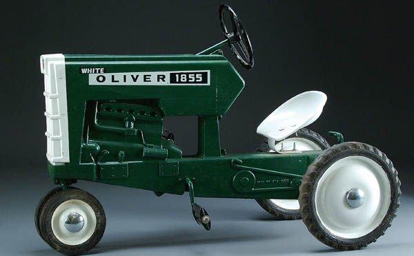 11: A WHITE OLIVER MODEL 1855 PEDAL TRACTOR circa 197