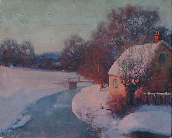 "852: ROYAL HILL MILLESON (American 1849-1935) ""Winter"