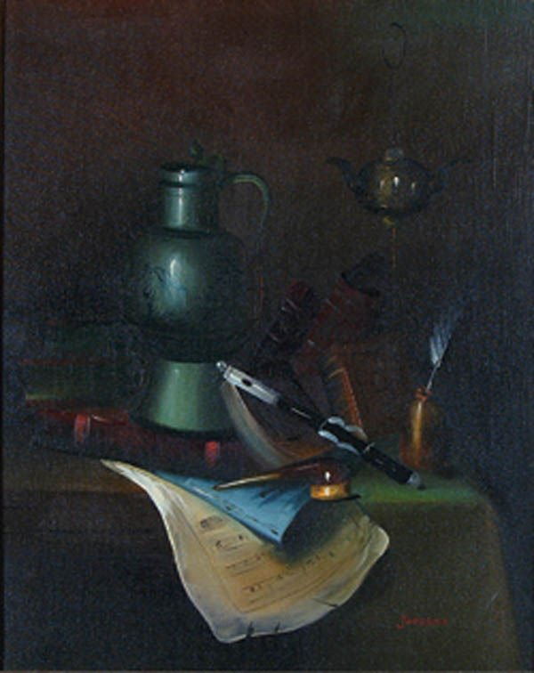 """1172: JOOSENA (Dutch 20th century) """"Still Life"""" oil on"""