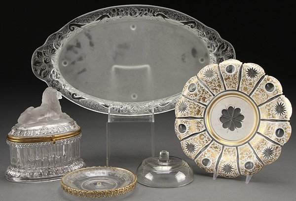 FRENCH GLASS GROUP, ATTRIBUTED TO BACCARAT
