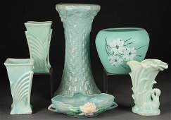 AMERICAN ART POTTERY GROUP 5 PIECES