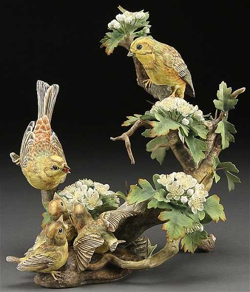 Boehm Porcelain Birds And Flowers Group