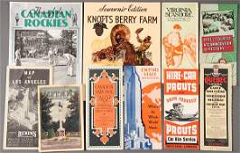 VINTAGE TRAVEL BROCHURE AND GUIDE BOOK EPHEMERA