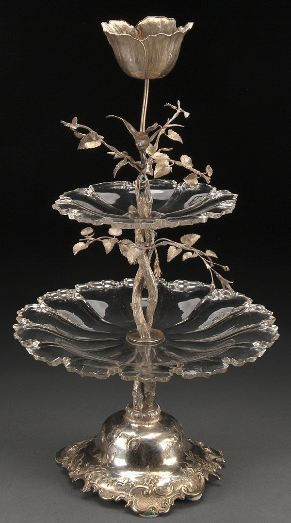 DUTCH SILVER EPERGNE, 1853