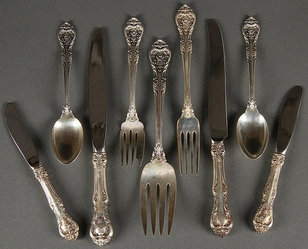 STERLING SILVER FLATWARE GORHAM, 47 .OZ
