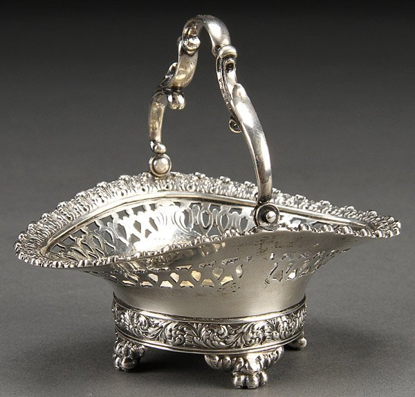 TIFFANY & CO. STERLING SILVER HANDLED BASKET