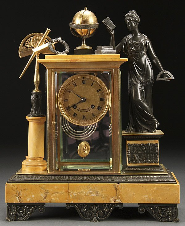 FRENCH BRONZE & CRYSTAL REGULATOR