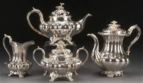VICTORIAN SILVER PLATE COFFEE  TEA SERVICE
