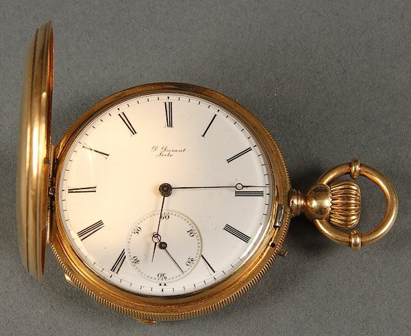 POCKET WATCH, 18K GOLD, P. DURANT LOCLE MOVEMENT