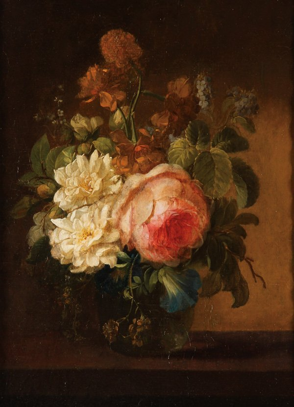 Dutch Old Master Still Life Painting 18th Century Lot 0008