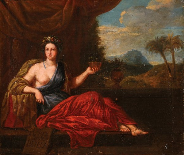FRENCH OLD MASTER  OIL PAINTING, 18TH CENTURY