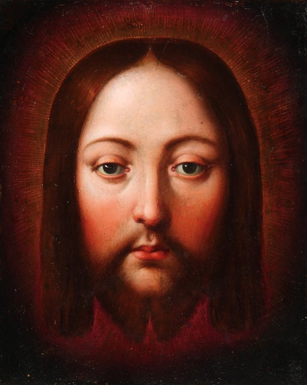 FLEMISH OLD MASTER PAINTING ON COPPER, CHRIST