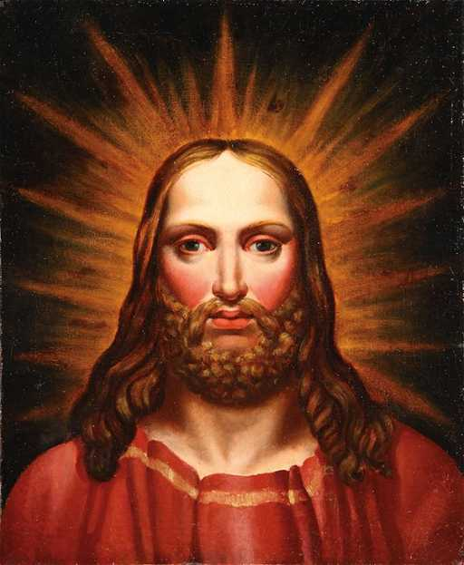 French Oil Painting Jesus Christ Circa 1840
