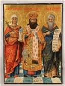 GREEK ICON OF SELECTED SAINTS, 18TH/19TH C.