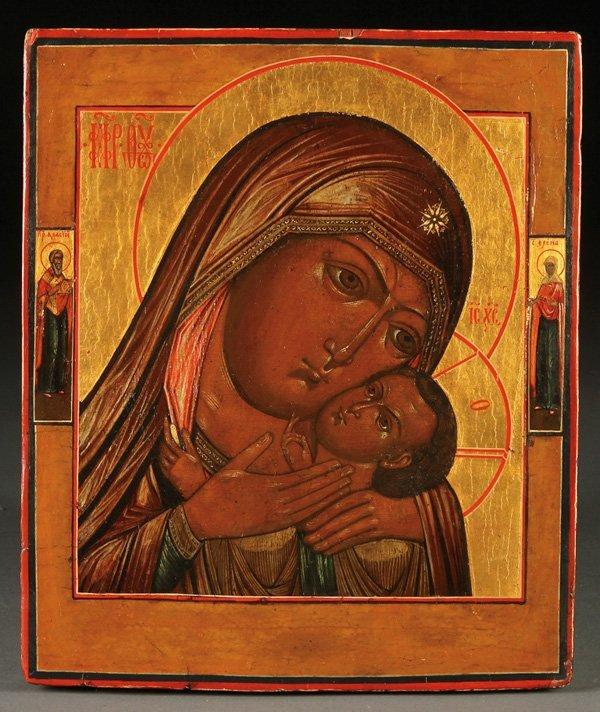 RUSSIAN ICON, KORSUN MOTHER OF GOD, C. 1800