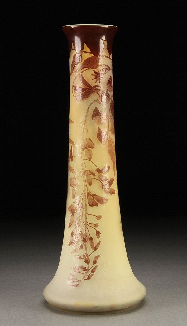 557: A GALLE FRENCH CAMEO ART GLASS VASE