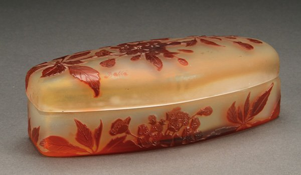 564: GALLE FRENCH CAMEO ART GLASS COVERED BOX