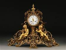 980: FRENCH LOUIS XVI STYLE FIGURAL MANTLE CLOCK
