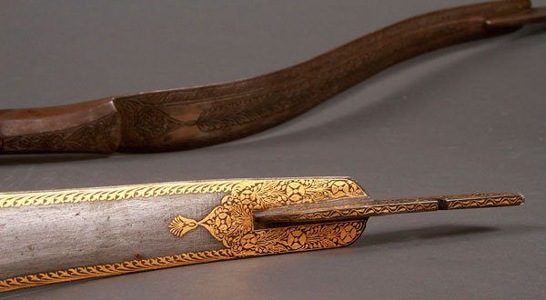 PAIR OF FINE STEEL RECURVE BOWS, PERSIAN 19TH C. - 3