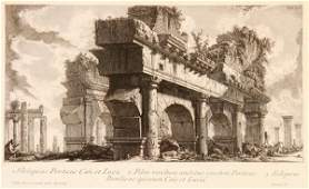 PAIR OF PIRANESI ENGRAVINGS DEPICTING RUINS
