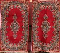 MATCHING PERSIAN KERMAN HAND WOVEN RUGS