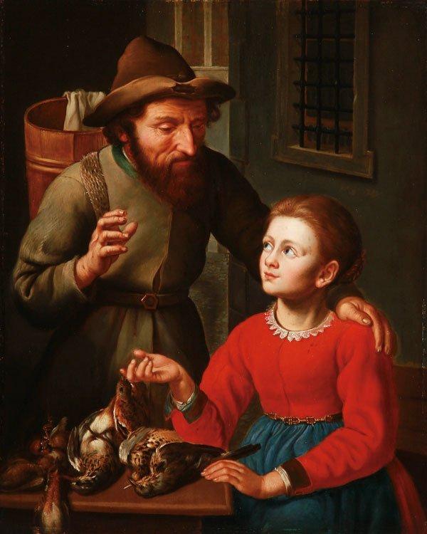 Very Fine 19th Century Genre painting Attrib to Heyn