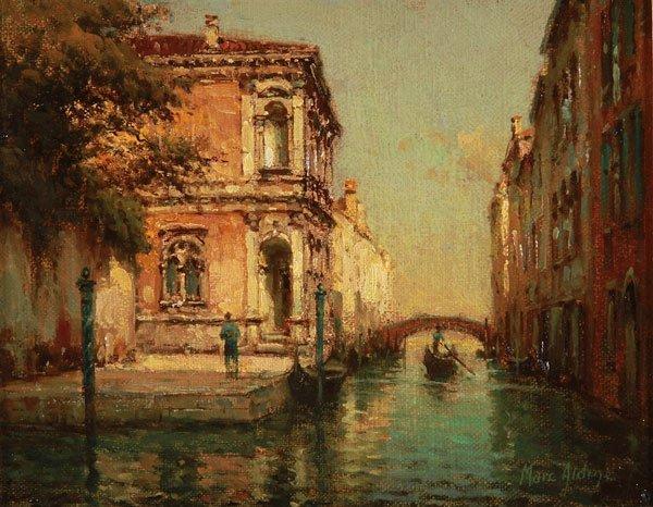 Noel Bouvard Venice Scene Oil on Canvas painting