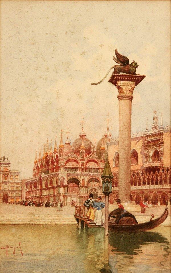 Signed Painting of Venice by Italian artist Brugnoli