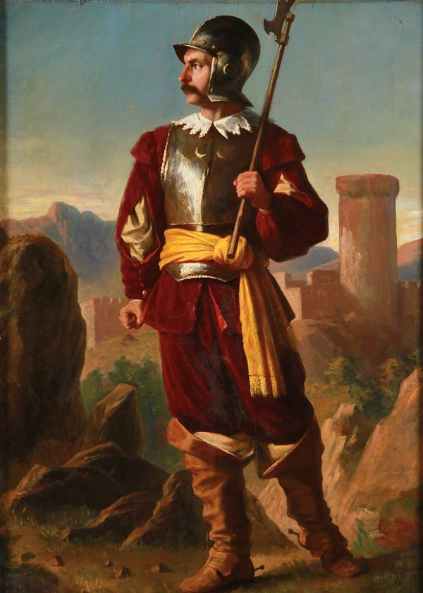 Fine 19th Century French Oil Painting of Soldier