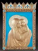 EXCEPTIONAL  UNIQUE RUSSIAN ICON CIRCA 18961905