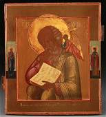 FINE RUSSIAN ICON OF ST. JOHN DATED 1887