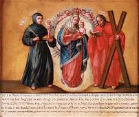 SPANISH COLONIAL RELIGIOUS OIL PAINTING