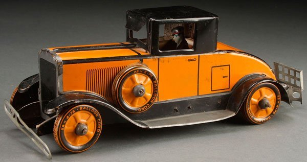 A VERY FINE MARX 1931 TOY CADILLAC COUPE TIN LITHO