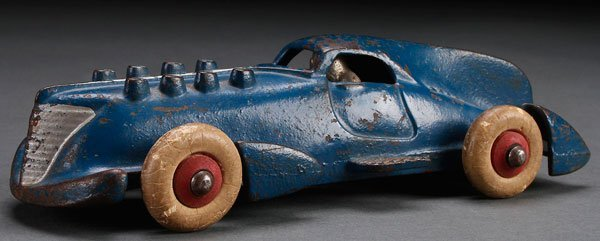 A HUBLEY CAST IRON TOY STREAMLINED RACER,