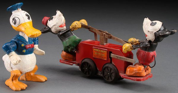 A LIONEL MICKEY MOUSE HAND CAR, NUMBER 1100 TOY