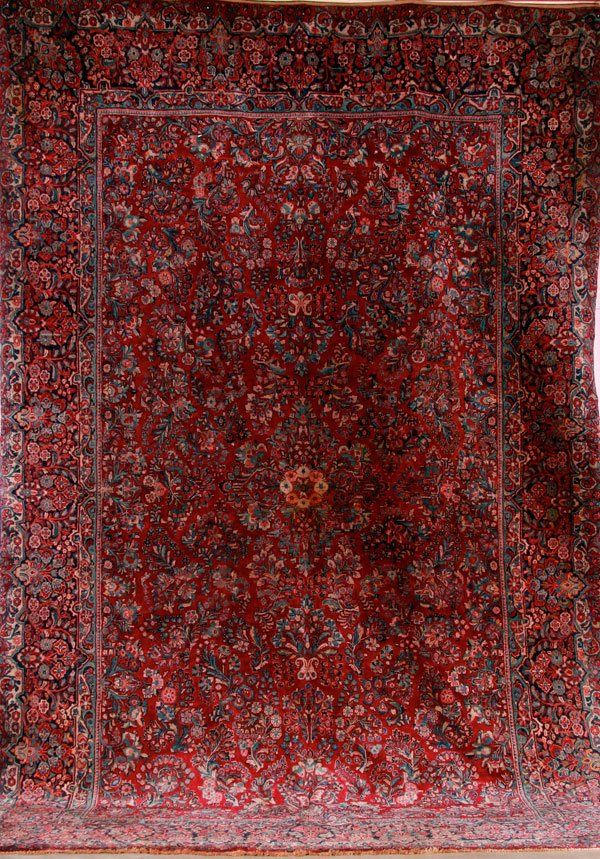 """A LARGE ROOM SIZED """"SAROUK"""" HAND WOVEN ORIENTAL CARPET"""