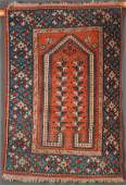 A PERSIAN HAND WOVEN ORIENTAL RUG 20TH CENTURY