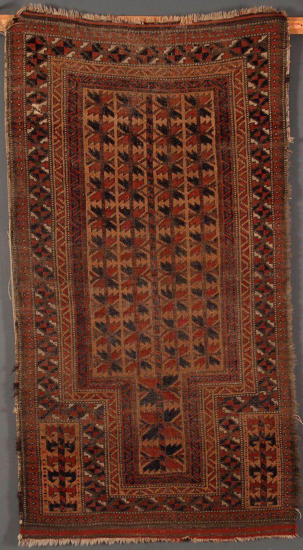 A PERSIAN HAND WOVEN ORIENTAL RUG, CIRCA 1920S.