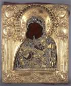 A RUSSIAN ICON OF THE VLADIMIR MOTHER OF GOD