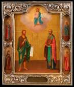 RUSSIAN ICON SIGNED AND DATED 1854