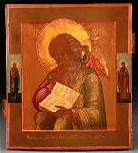RUSSIAN ICON OF SAINT JOHN, DATED 1887