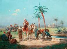 FRENCH ORIENTALIST ARAB OIL PAINTING