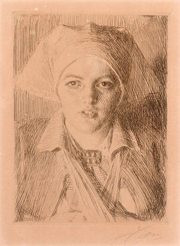 ANDERS ZORN, SIGNED ETCHING